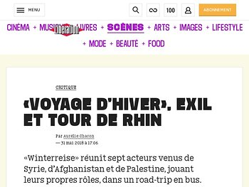 «Voyage d€'hiver», exil ettour de Rhin