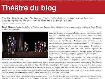 Family Machine de Gertrude Stein, adaptation, mise en scène et chorégraphie de Roser Montlló Guberna et Brigitte Seth
