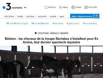 Béziers : les chevaux de la troupe Bartabas s'installent pour Ex Anima, leur dernier spectacle équestre
