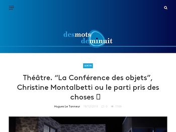 """""""La Conférence des objets"""", Christine Montalbetti ou le parti pris des choses"""