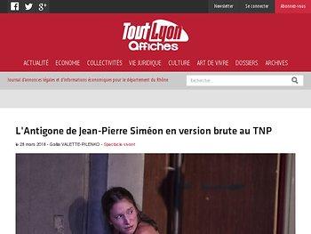 L'Antigone de Jean-Pierre Siméon en version brute au TNP