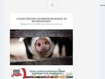 """Pig Boy 1986-2358"" : eh ben mon cochon !"