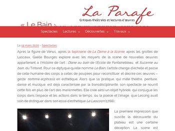 """Le Bain"" - ecphrasis théâtrale"