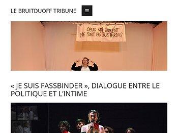 «Je suis Fassbinder», dialogue entre le politique et l'intime