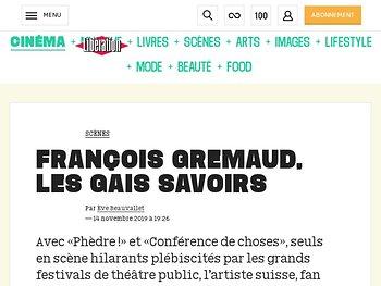 François Gremaud, les gais savoirs
