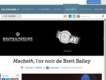 Macbeth, l'or noir de Brett Bailey