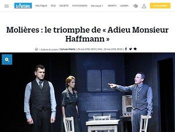 Molières : le triomphe de « Adieu Monsieur Haffmann »