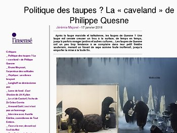 Politique des taupes ? La « caveland » de Philippe Quesne