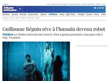 Guillaume Béguin rêve à l'humain devenu robot