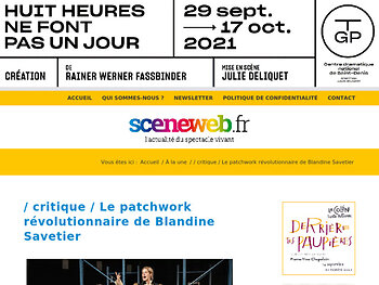 Le patchwork révolutionnaire de Blandine Savetier