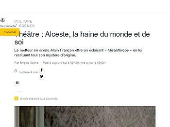 Alceste, la haine du monde et de soi