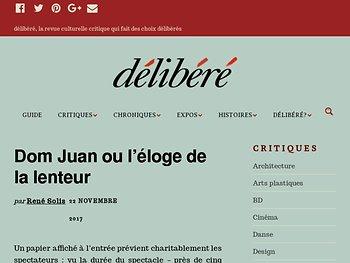 Dom Juan ou l'éloge de la lenteur