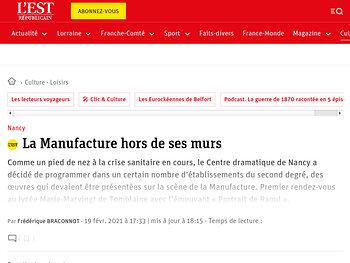 """La Manufacture hors de ses murs - """"Portrait de Raoul"""""""