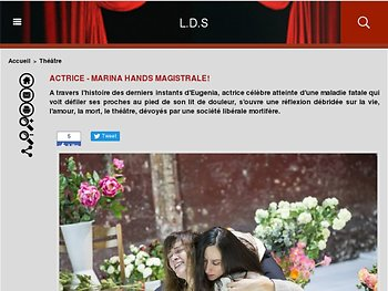 """Actrice""  - Marina Hands Magistrale !"