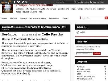 Racine et Marguerite Duras complices.