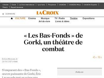 « Les Bas-Fonds » de Gorki, un théâtre de combat