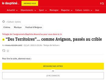 """""""Des Territoires""""… comme Avignon, passés au crible"""