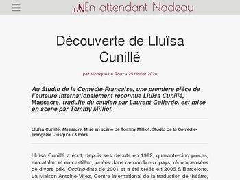 Découverte de Lluïsa Cunillé