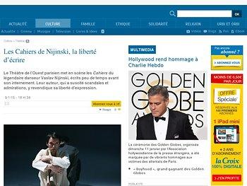 Les Cahiers de Nijinski, la liberté d'écrire | La-Croix.com