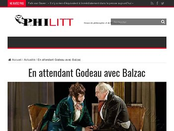 En attendant Godeau avec Balzac