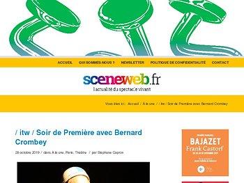 Soir de Première avec Bernard Crombey