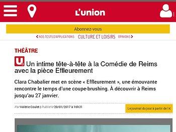 Un intime tête-à-tête à la Comédie de Reims