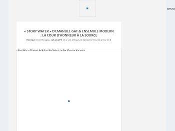 """""""Story Water"""" : la Cour d'honneur à la source"""