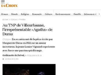 Au TNP de Villeurbanne, l'irreprésentable «Agatha» de Duras