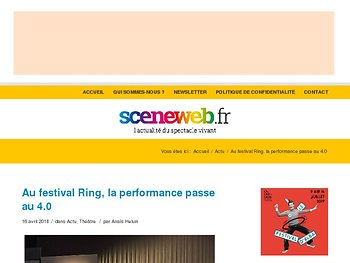 Au festival Ring, la performance passe au 4.0