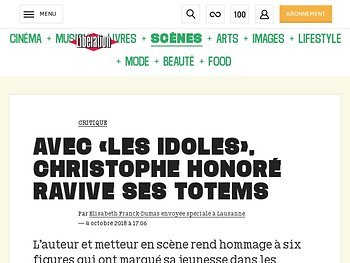 Avec «les Idoles», Christophe Honoré ravive ses totems
