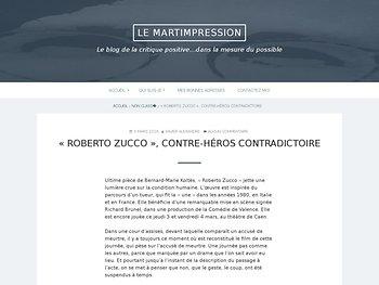 « Roberto Zucco », contre-héros contradictoire