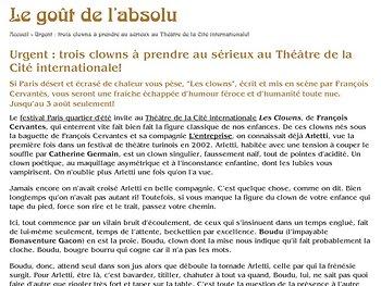 Urgent : trois clowns à prendre au sérieux