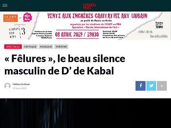 «Fêlures», le beau silence masculin de D' de Kabal
