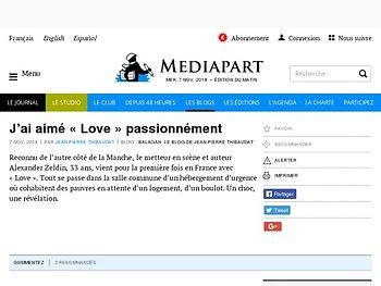 J'ai aimé « Love » passionnément