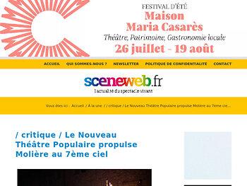 Le Nouveau Théâtre Populaire propulse Molière au 7ème ciel