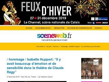 """Isabelle Huppert: """"Il y avait beaucoup d'émotion et de sensibilité dans le théâtre de Claude Régy"""""""