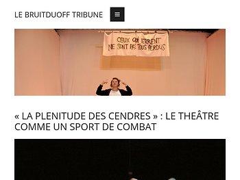 Le théâtre comme un sport de combat