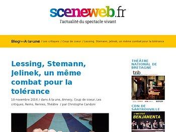 Lessing, Stemann, Jelinek, un même combat pour la tolérance