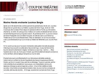 Marina Hands enchante Lucrèce Borgia