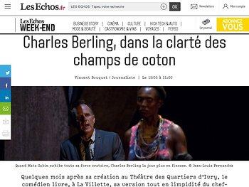 Charles Berling, dans la clarté des champs de coton