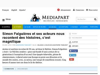 Simon Falguières et ses acteurs nous racontent des histoires, c'est magnifique