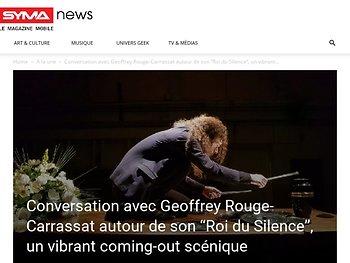 """Conversation avec Geoffrey Rouge-Carrassat autour de son """"Roi du Silence"""""""