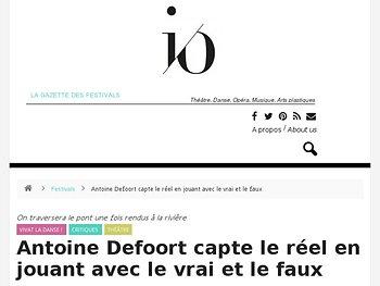 Antoine Defoort capte le réel en jouant avec le vrai et le faux