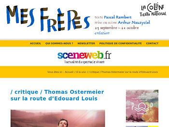 Thomas Ostermeier met en scène Édouard Louis dans Qui à tué mon père ?