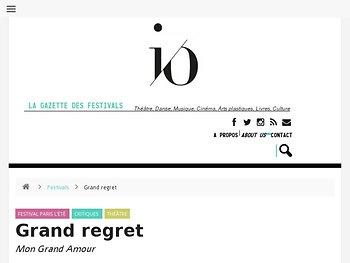 Grand regret