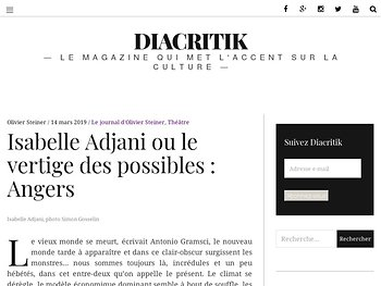 Isabelle Adjani ou le vertige des possibles