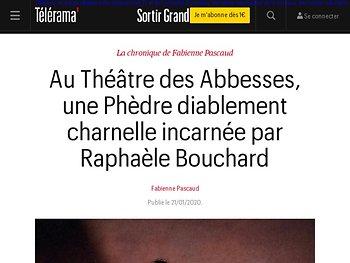 Une Phèdre diablement charnelle incarnée par Raphaèle Bouchard