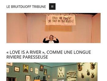 «Love is a river», comme une longue rivière parresseuse
