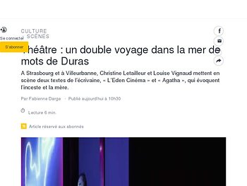 Un double voyage dans la mer de mots de Duras