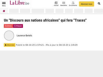 """Un """"Discours aux nations africaines"""" qui fera """"Traces"""""""